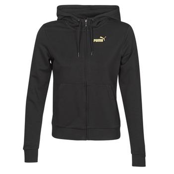 Îmbracaminte Femei Bluze îmbrăcăminte sport  Puma METALLIC FZ HOODY TR Negru / Auriu