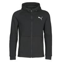Îmbracaminte Bărbați Bluze îmbrăcăminte sport  Puma EVOSTRIPE FZ HOODY Negru