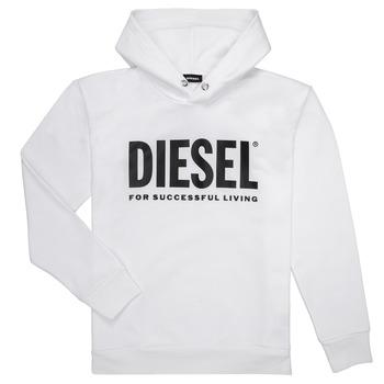 Îmbracaminte Băieți Hanorace  Diesel SDIVISION LOGO Alb