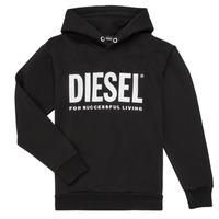 Îmbracaminte Băieți Hanorace  Diesel SDIVISION LOGO Negru