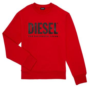 Îmbracaminte Băieți Hanorace  Diesel SCREWDIVISION LOGO Roșu