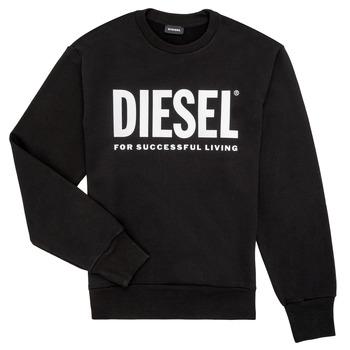 Îmbracaminte Băieți Hanorace  Diesel SCREWDIVISION LOGO Negru