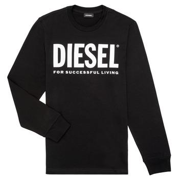 Îmbracaminte Băieți Tricouri cu mânecă lungă  Diesel TJUSTLOGO ML Negru