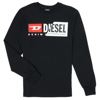 Îmbracaminte Copii Tricouri cu mânecă lungă  Diesel TDIEGOCUTY Negru