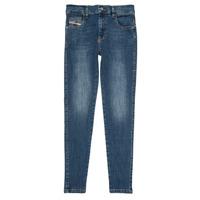 Îmbracaminte Fete Jeans slim Diesel D-SLANDY HIGH Albastru