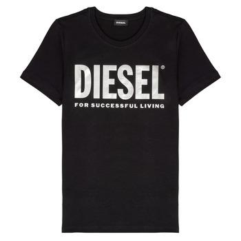 Îmbracaminte Fete Tricouri mânecă scurtă Diesel TSILYWX Negru