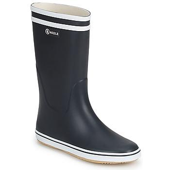 Pantofi Femei Cizme de cauciuc Aigle MALOUINE Bleumarin / Alb