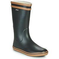 Pantofi Femei Cizme de cauciuc Aigle MALOUINE Negru / Camel