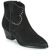 Pantofi Femei Botine Ash HOUSTON BIS Black