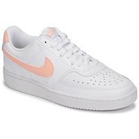 Pantofi Femei Pantofi sport Casual Nike COURT VISION LOW Alb / Roz