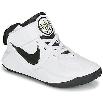 Pantofi Băieți Basket Nike TEAM HUSTLE D 9 PS Alb / Negru