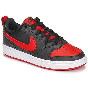 Pantofi Copii Pantofi sport Casual Nike COURT BOROUGH LOW 2 GS Negru / Roșu
