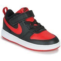 Pantofi Copii Pantofi sport Casual Nike COURT BOROUGH LOW 2 TD Negru / Roșu