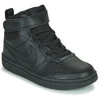 Pantofi Copii Pantofi sport stil gheata Nike COURT BOROUGH MID 2 PS Negru