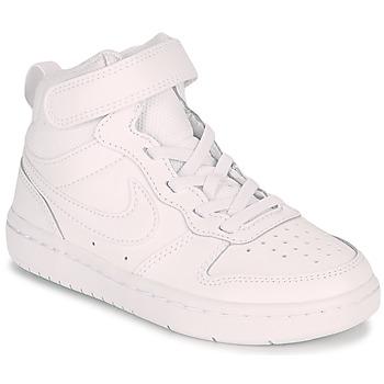 Pantofi Copii Pantofi sport stil gheata Nike COURT BOROUGH MID 2 PS Alb