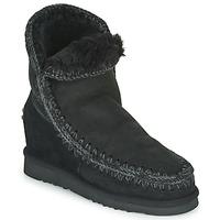 Pantofi Femei Ghete Mou ESKIMO INNER WEDGE SHORT Negru