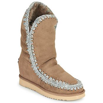 Pantofi Femei Ghete Mou ESKIMO INNER WEDGE TALL Bej