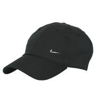 Accesorii textile Sepci Nike U NSW H86 METAL SWOOSH CAP Negru / Argintiu