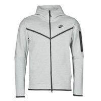 Îmbracaminte Bărbați Bluze îmbrăcăminte sport  Nike M NSW TCH FLC HOODIE FZ WR Gri / Negru