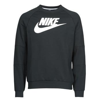 Îmbracaminte Bărbați Hanorace  Nike M NSW MODERN CRW FLC HBR Negru / Alb