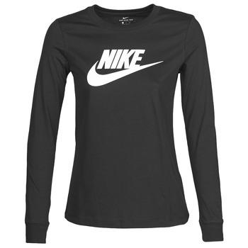 Îmbracaminte Femei Tricouri cu mânecă lungă  Nike W NSW TEE ESSNTL LS ICON FTR Negru