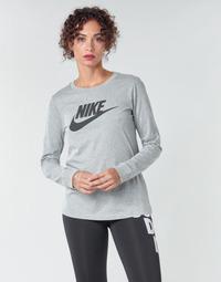 Îmbracaminte Femei Tricouri cu mânecă lungă  Nike W NSW TEE ESSNTL LS ICON FTR Gri