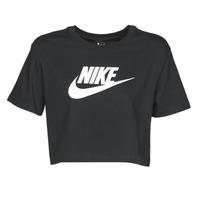 Îmbracaminte Femei Tricouri mânecă scurtă Nike W NSW TEE ESSNTL CRP ICN FTR Negru