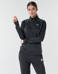 Îmbracaminte Femei Tricouri cu mânecă lungă  Nike W NK PACER HZ Negru