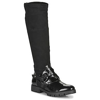 Pantofi Femei Cizme casual Regard CANET V1 VERNIS NOIR Negru