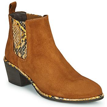 Pantofi Femei Botine Regard NOISY V2 VELOURS SAFRAN Maro