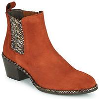 Pantofi Femei Botine Regard NOISY V3 VELOURS TUILE Roșu