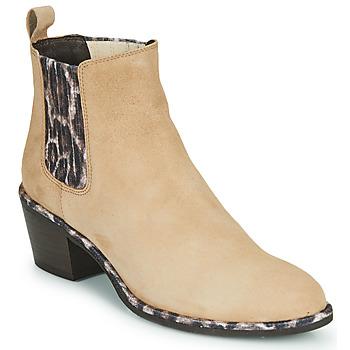 Pantofi Femei Botine Regard NOISY V7 VELOURS SAFRAN Bej