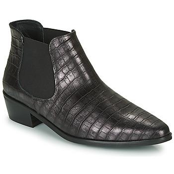 Pantofi Femei Ghete Fericelli NANARUM Negru / Argintiu