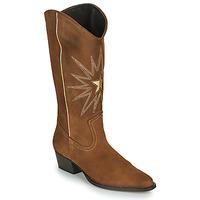 Pantofi Femei Cizme casual Fericelli NISCOME Camel / Auriu