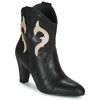 Pantofi Femei Botine Fericelli NARLOTTE Negru / Auriu