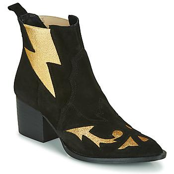Pantofi Femei Botine Fericelli NAUSSON Negru / Auriu
