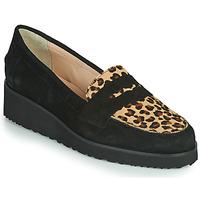 Pantofi Femei Mocasini Fericelli NECLAIR Negru / Animal