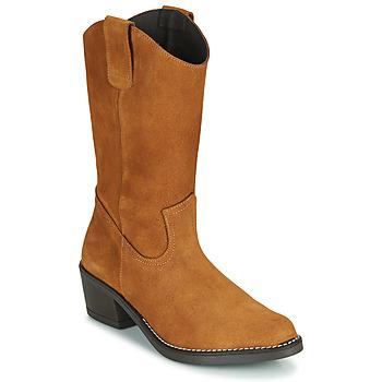 Pantofi Femei Cizme casual Casual Attitude NESCARGO Camel