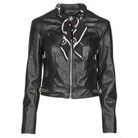Îmbracaminte Femei Jachete din piele și material sintetic Guess NEW JONE JACKET Negru
