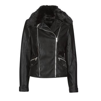 Îmbracaminte Femei Jachete din piele și material sintetic Guess CANTARA Negru