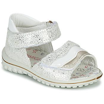 Pantofi Fete Sandale  Primigi  Alb / Argintiu