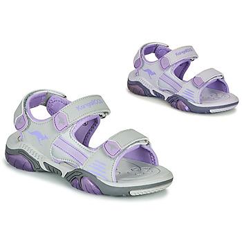 Pantofi Copii Sandale sport Kangaroos Sandalshine Gri / Violet