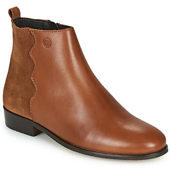 Pantofi Femei Ghete Betty London HELOI Camel