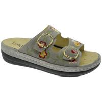 Pantofi Femei Papuci de vară Calzaturificio Loren LOB5021ta tortora
