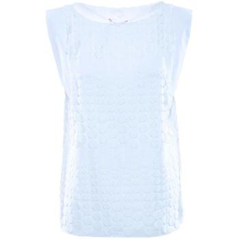 Îmbracaminte Femei Topuri și Bluze Luckylu BLUSA SMANICATA PIZZO BOLLI 0001-bianco