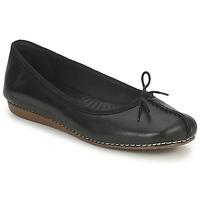Pantofi Femei Balerin și Balerini cu curea Clarks FRECKLE ICE Negru