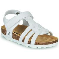 Pantofi Fete Sandale  Citrouille et Compagnie JANISOL Alb