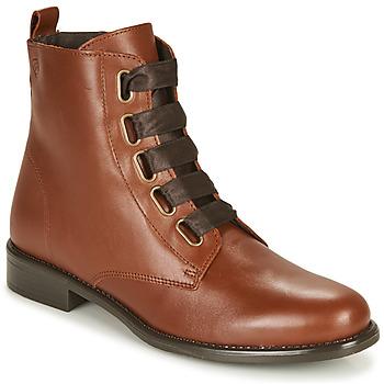 Pantofi Femei Ghete Betty London NAMA Camel