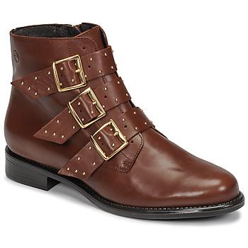 Pantofi Femei Ghete Betty London LYS Camel