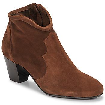 Pantofi Femei Botine Betty London NORIANE Camel / Catifea